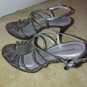 Silver Jeweled High Heels